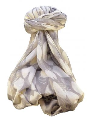 Supersized Handloom Saurshatra Cotton Scarf or Stole Jamnagar Pattern by Pashmina & Silk