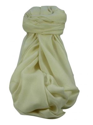 Fine Cashmere Stole Karakoram Birds-Eye Weave Soft White by Pashmina & Silk
