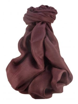 Pashtoosh Luxury Cashmere Shawl Mulberry by Pashmina & Silk