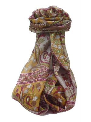 Mulberry Silk Traditional Long Scarf Alka Chestnut by Pashmina & Silk