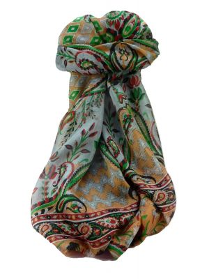 Mulberry Silk Traditional Long Scarf Alka Black by Pashmina & Silk