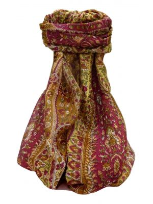 Mulberry Silk Traditional Long Scarf Amrindar Chestnut by Pashmina & Silk