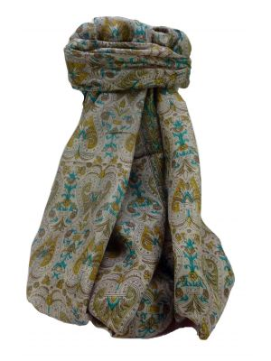 Mulberry Silk Traditional Long Scarf Dwarak Chestnut by Pashmina & Silk