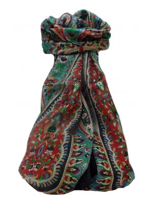 Mulberry Silk Traditional Long Scarf Karita Black by Pashmina & Silk