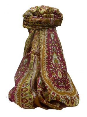 Mulberry Silk Traditional Long Scarf Karita Chestnut by Pashmina & Silk