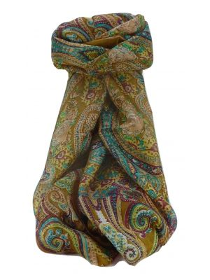 Mulberry Silk Traditional Long Scarf Monali Chestnut by Pashmina & Silk