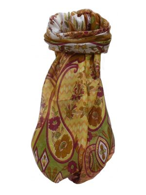 Mulberry Silk Traditional Long Scarf Shalmali Chestnut by Pashmina & Silk