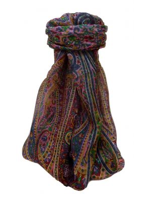 Mulberry Silk Traditional Long Scarf Shreya Wine by Pashmina & Silk
