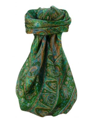 Mulberry Silk Traditional Square Scarf Zoi Sage by Pashmina & Silk