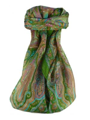 Mulberry Silk Traditional Square Scarf Queta Sage by Pashmina & Silk