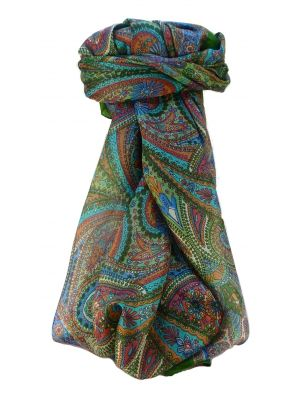 Mulberry Silk Traditional Square Scarf Zee Sage by Pashmina & Silk