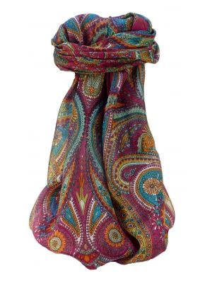 Mulberry Silk Traditional Square Scarf Zee Rose by Pashmina & Silk
