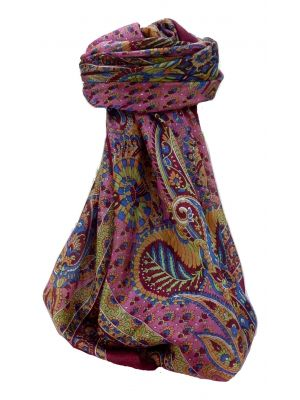 Mulberry Silk Traditional Square Scarf Osh Wine by Pashmina & Silk