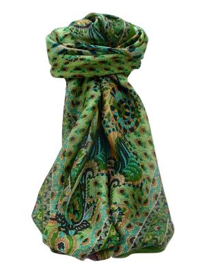 Mulberry Silk Traditional Square Scarf Osh Sage by Pashmina & Silk