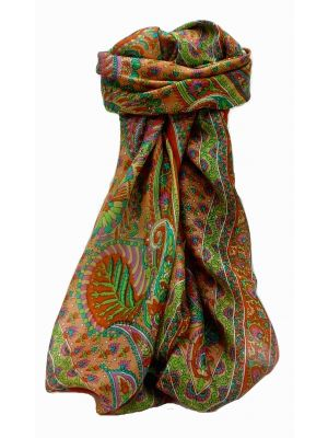 Mulberry Silk Traditional Square Scarf Osh Terracotta by Pashmina & Silk