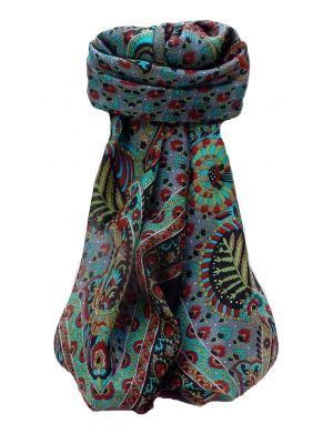 Mulberry Silk Traditional Square Scarf Osh Black by Pashmina & Silk