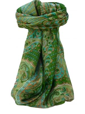 Mulberry Silk Traditional Square Scarf Omana Sage by Pashmina & Silk
