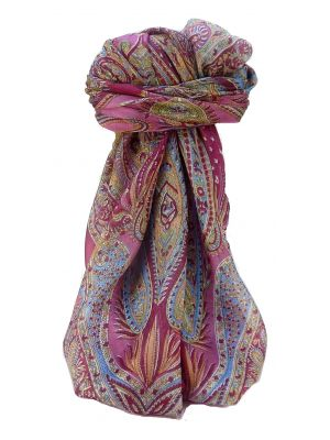 Mulberry Silk Traditional Square Scarf Zayd Rose by Pashmina & Silk