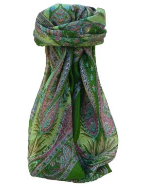 Mulberry Silk Traditional Square Scarf Zayd Sage by Pashmina & Silk