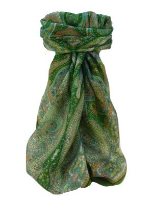 Mulberry Silk Traditional Square Scarf Vayvia Sage by Pashmina & Silk