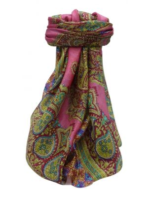 Mulberry Silk Traditional Square Scarf Obi Rose by Pashmina & Silk