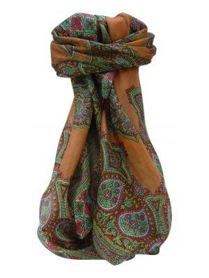 Mulberry Silk Traditional Square Scarf Obi Blush by Pashmina & Silk