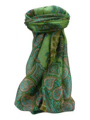Mulberry Silk Traditional Square Scarf Obi Sage by Pashmina & Silk