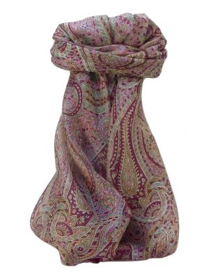 Mulberry Silk Traditional Square Scarf Quiara Rose by Pashmina & Silk
