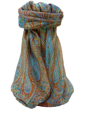 Mulberry Silk Traditional Square Scarf Quiara Terracotta by Pashmina & Silk