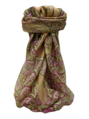 Mulberry Silk Traditional Square Scarf Xita Blush by Pashmina & Silk