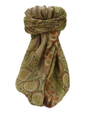 Mulberry Silk Traditional Square Scarf Xita Chestnut by Pashmina & Silk