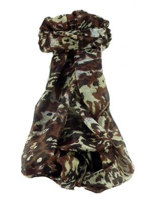 Mulberry Silk Contemporary Long Scarf Rhona Chestnut by Pashmina & Silk