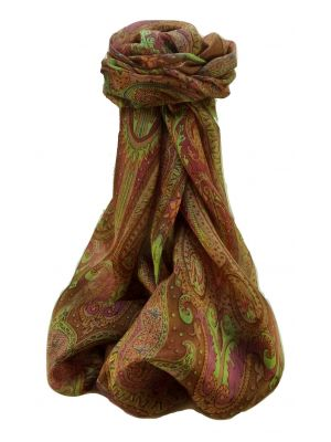 Mulberry Silk Traditional Long Scarf Chadar Copper by Pashmina & Silk