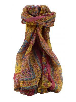 Mulberry Silk Traditional Long Scarf Sarayu Rose by Pashmina & Silk