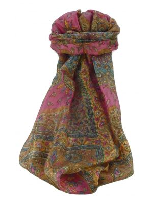 Mulberry Silk Traditional Long Scarf Sarayu Copper by Pashmina & Silk