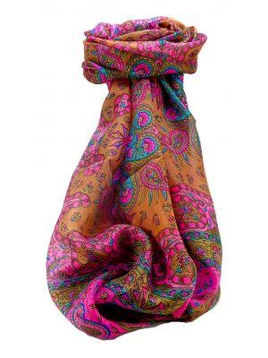 Mulberry Silk Traditional Long Scarf Sarayu Pink by Pashmina & Silk