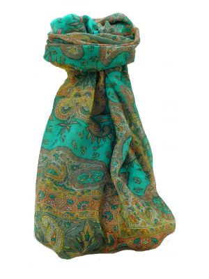Mulberry Silk Traditional Long Scarf Sarayu Charcoal by Pashmina & Silk
