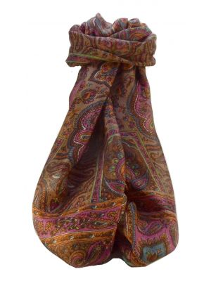 Mulberry Silk Traditional Long Scarf Daman Chestnut by Pashmina & Silk