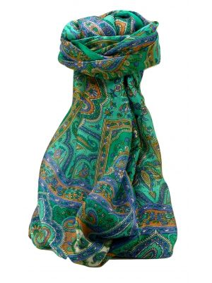 Mulberry Silk Traditional Long Scarf Daman Emerald by Pashmina & Silk