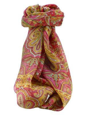 Mulberry Silk Traditional Long Scarf Daman Rose by Pashmina & Silk