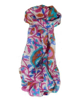 Mulberry Silk Contemporary Long Scarf Mooli Cerise by Pashmina & Silk