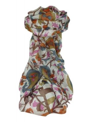 Mulberry Silk Contemporary Long Scarf Mooli Chestnut by Pashmina & Silk