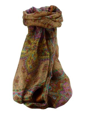 Mulberry Silk Traditional Long Scarf Cauver Copper by Pashmina & Silk
