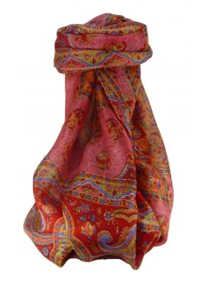 Mulberry Silk Traditional Long Scarf Cauver Scarlet by Pashmina & Silk