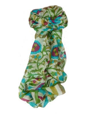 Mulberry Silk Contemporary Long Scarf Mooli Peony by Pashmina & Silk