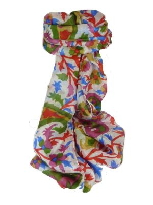 Mulberry Silk Contemporary Long Scarf Mooli Scarlet by Pashmina & Silk