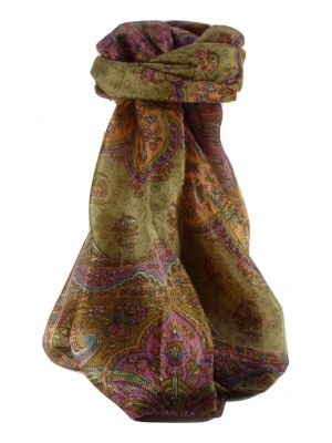 Mulberry Silk Traditional Long Scarf Cauver Chestnut by Pashmina & Silk