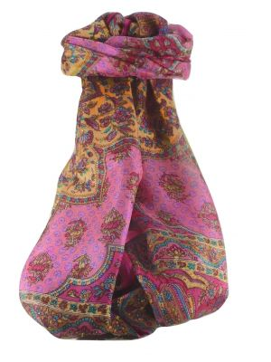 Mulberry Silk Traditional Long Scarf Cauver Pink by Pashmina & Silk