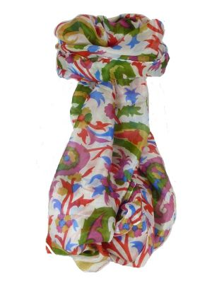 Mulberry Silk Contemporary Long Scarf Mooli Poppy by Pashmina & Silk