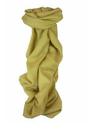 Fine Cashmere Scarf Karakoram Birds-Eye Weave Old Gold by Pashmina & Silk